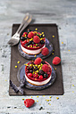 Two mini fancy cakes with berries - MYF001557