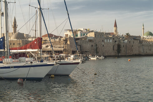Israel, Acre, harbor and old town - HWOF000131