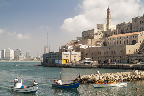 Israel, Jaffa, harbor and old town - HWO000137