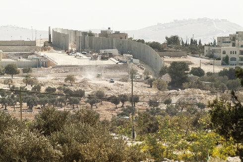 Israel, constructing the wall between Jerusalem and West Bank - HWOF000149