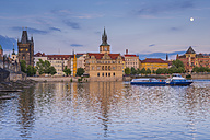 Czechia, Prague, Bedrich Smetana Museum in former waterworks, old town with water tower - WGF000879