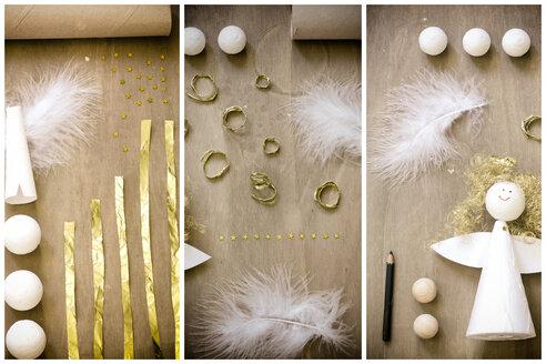 Christmas decoration, angel, flat lay - CMF000492