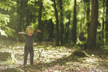 Little boy playing in forest - SBOF000158