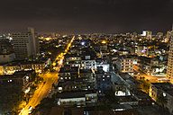 Cuba, Havana, cityscape at night - MABF000369