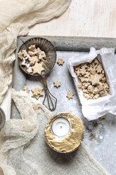 Home-baked star-shaped Christmas cookies - SBDF002978