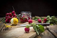 Preparing pickled red radishes - LVF005044