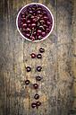 Bowl of cherries on wood - LVF005063