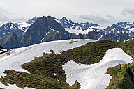 Germany, flying helicopter at Nebelhorn in the Allgaeu Alps - PCF000253