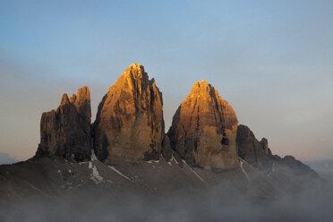 Italy, Dolomites, Tre Cime di Lavaredo at sunrise - MKFF000297