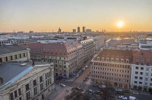 Germany, Berlin, city view at sunset - PVCF000855