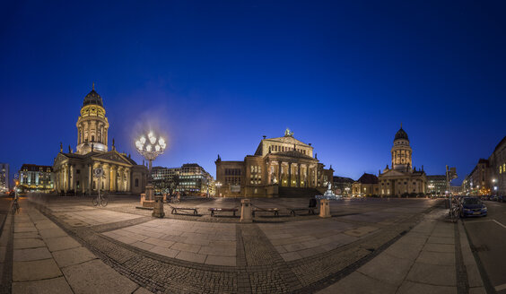 Germany, Berlin, view to Gendarmenmarkt by night - PVCF000864