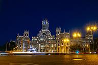 Spain, Madrid, Madrid City Hall at night - KIJF000502