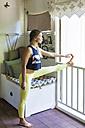 Young woman doing yoga - KNTF000419