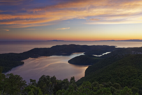 Croatia, Dalmatia, Dubrovnik-Neretva, Mljet Island, National Park Mljet at sunset - GFF000636
