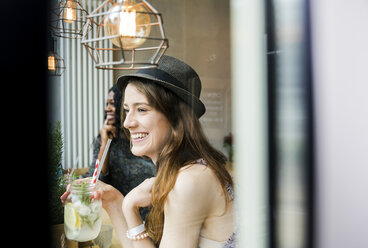 Two friends having fun in cafe - ONF000987