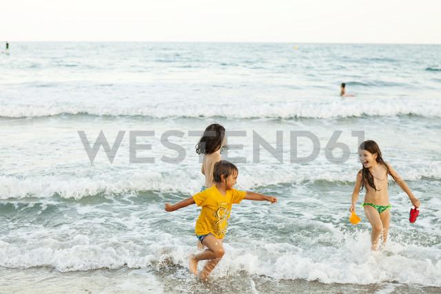 Children having fun at seafront - VABF000701