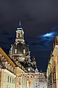 Germany, Saxony, Dresden, Church of Our Lady, Neumarkt at night - TAMF000530