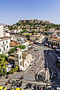 Greece, Athens, Monasteraki square and Acropolis in the background - THAF001605
