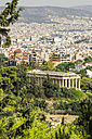 Greece, Athens, Temple of Hephaestus and cityscape - THAF001617