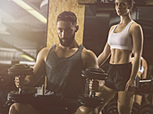 Fitness, couple in gym - MADF001010