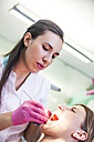Patieint receiving treatment at the dentist - ZEDF000215