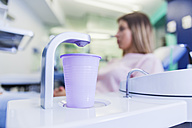 Water tap with plastic cup in dental surgery - ZEDF000242