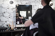 Hair salon, barber and customer - ZEF009197