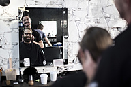 Hair salon, barber and customer - ZEF009206