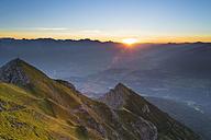 Austria, Tyrol, Stubai Alps, Saile at sunset - MKFF000323