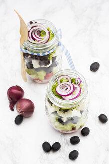 Greek salad in glasses - LVF005156