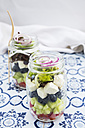 Greek salad in glasses - LVF005159