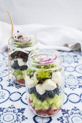 Greek salad in glasses - LVF005159