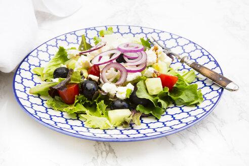 Greek salad on plate - LVF005162