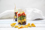 Tex-Mex salad in glasses - LVF005167