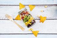 Tex-Mex salad in glass - LVF005170