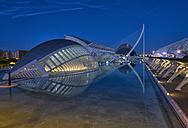 Spain, Valencia, Ciudad de las Artes y de las Ciencias view to L'Hemisferic - LOM000317