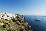 Greece, Santorini, view to Fira and Caldera - THAF001714