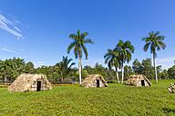 Zapata Peninsula, Guama, thatched huts, reconstruction of Tiano Indian village - MABF000371