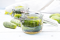 Preserving jar of gherkins and cucumbers - LVF005197