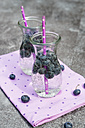 Two carafes of infused water with blueberries - SARF002825