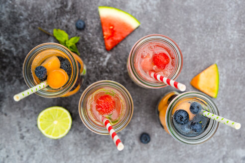 Carafes of miscellaneous fruit infused water - SARF002834