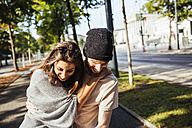 Austria, Vienna, young couple in love - AIF000369