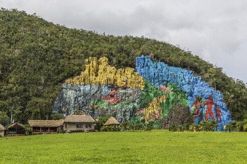 Cuba, Pinar del Rio, Valle de Vinales, Mural de la Prehistoria - MAB000375