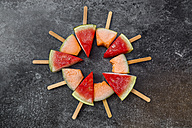 Watermelon and rockmelon popsicles - SARF002843