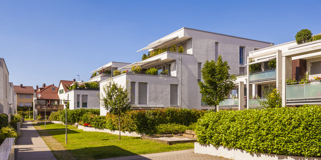Germany, Fellbach, passive house development area - WDF003708