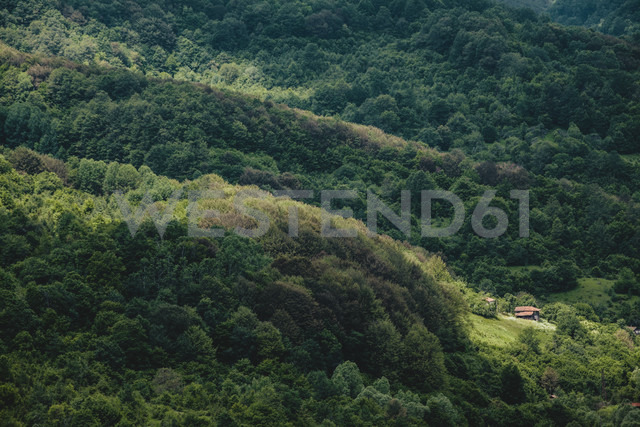 Bulgaria, Trun, wooden houses in the mountains - BZF000342