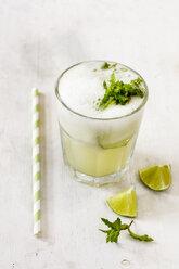 Homemade melon lemonade with ment and lime - EVGF003029