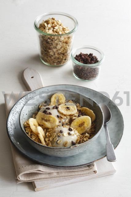 Banana icecream with oat flakes, topping, nicecream - EVGF003049