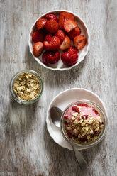Strawberry frozen yogurt, topping oat flakes - EVGF003058