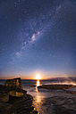 Australia, New South Wales, Clovelly, Shark Point at sunset - GOAF000030